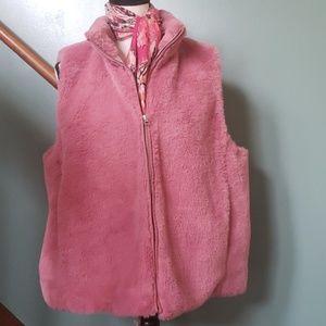 J. Crew pink vest